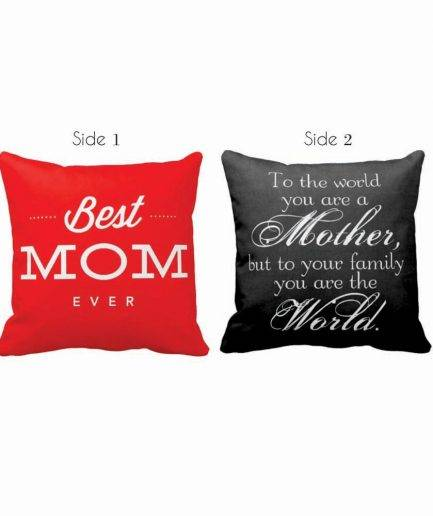 Gifts for Mom, My Mom My World Cushion Cover 1