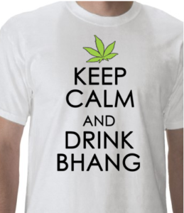 Authorized bhang lover Holi T-shirts