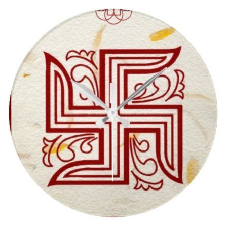 Red Swastika Wall Clock