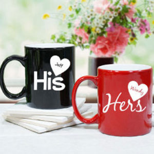 Personalized Charming His and Hers Couple Mugs