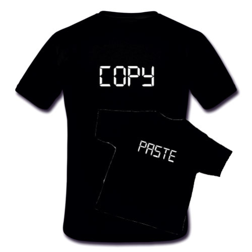 Copy and Paste Parent and Child T shirts