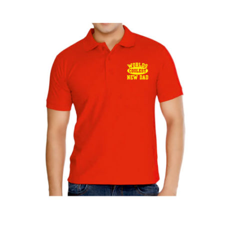 World's Coolest New Dad Polo T-shirt