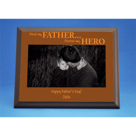 Personalized My Father My Hero Photo Plaque