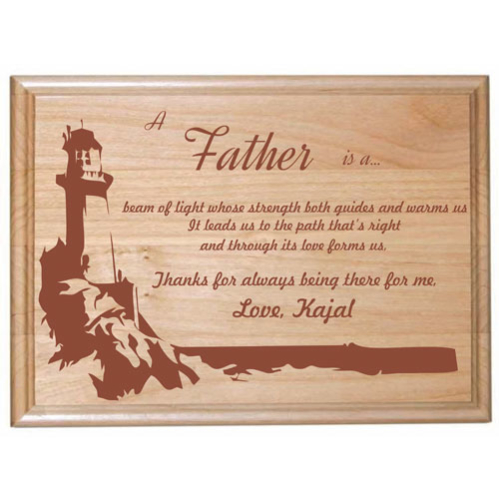 Engraved Plaque for Loving Dad