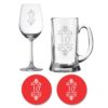 10th Anniversary Beer Wine Glasses
