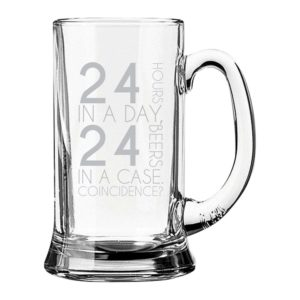 24 Hours 24 Beers Engraved Beer Mug