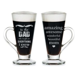 Amazing Mom Dad Engraved Tea Mugs Set of 2