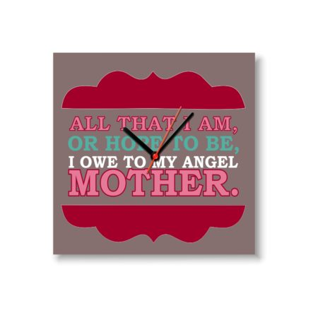 Angel Mother Wall Clock