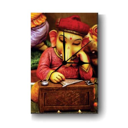 Auspicious Lord Ganesha Canvas Wall Clock