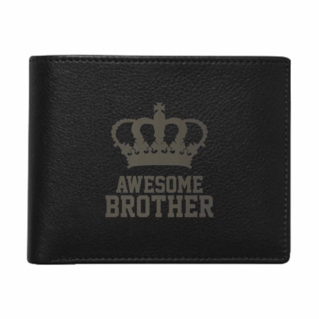 Awesome Brother Men's Leather Wallet for Brother