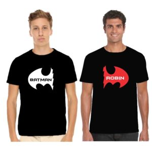 BATMAN ROBIN black men tshirts