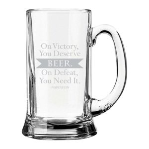Beer Deserve It Need It Engraved Beer Mug