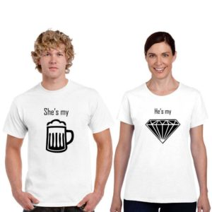 Beer-and-Diamond-Couple-Dri-Fit-T-shirt-(White)