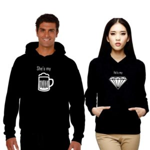 Beer and Diamond Couple Sweatshirts