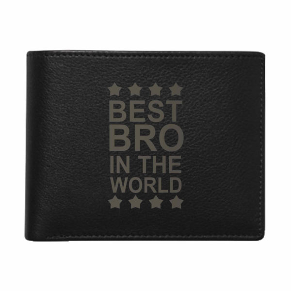 Best Bro In The World Men's Leather Wallet for Brother