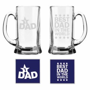 Best Dad in The World Beer Mug Set Of 2
