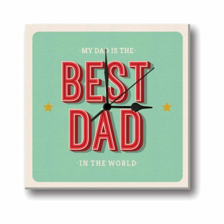 Best Dad in the World Canvas Wall Clock