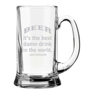 Best Drink In The World Engraved Beer Mug