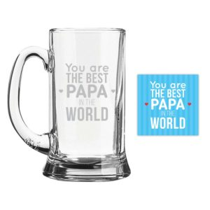 Best Papa Icon Beer Mug
