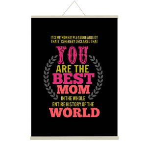 Best Mom In The World Canvas Message Scroll