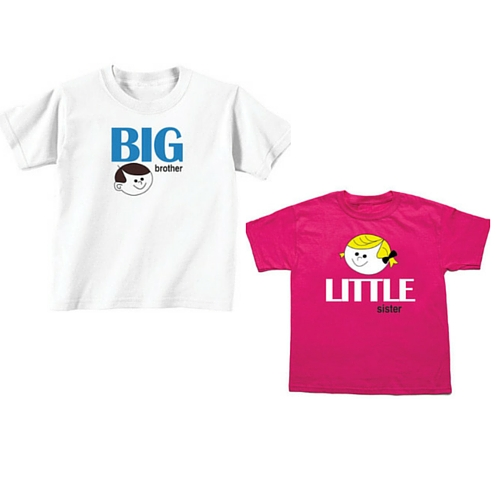 Big Brother and Little Sister Sibling T shirts