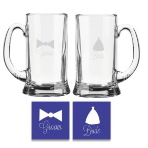 Bride and Groom Beer Mug KH4742