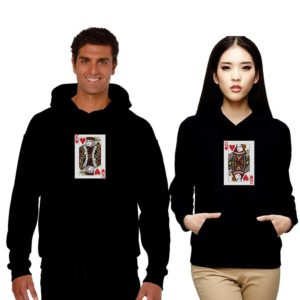 Card of Hearts Couple Sweatshirt