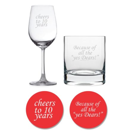 Cheers 10th Anniversary Whiskey Wine Glass
