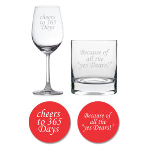 Cheers 1st Anniversary Whiskey Wine Glasses Coaster