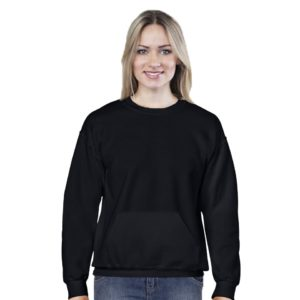 Classic Black Women Crew Neck Sweatshirt