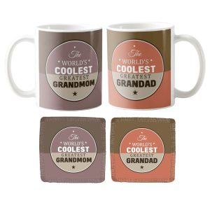 Coolest Greatest Grandma Grandpa Coffee Mug