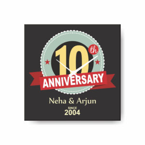 10th Anniversary Canvas Wall Clock