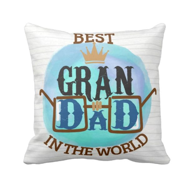 Cute Best Grandad in the World Cushion Cover