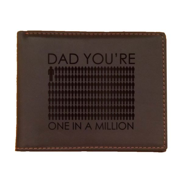 Dad You Are One In A Million Men's Leather Wallet