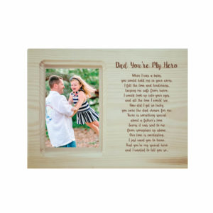 Dad You are My Hero Engraved Poem Photo Frame