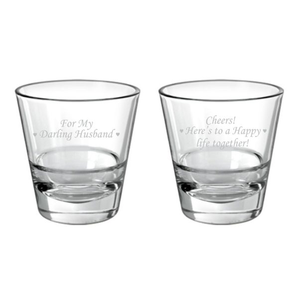 Darling Husband Happy life Together Conic Whiskey Glassess