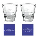 Darling Husband Happy life Together Whiskey Glass