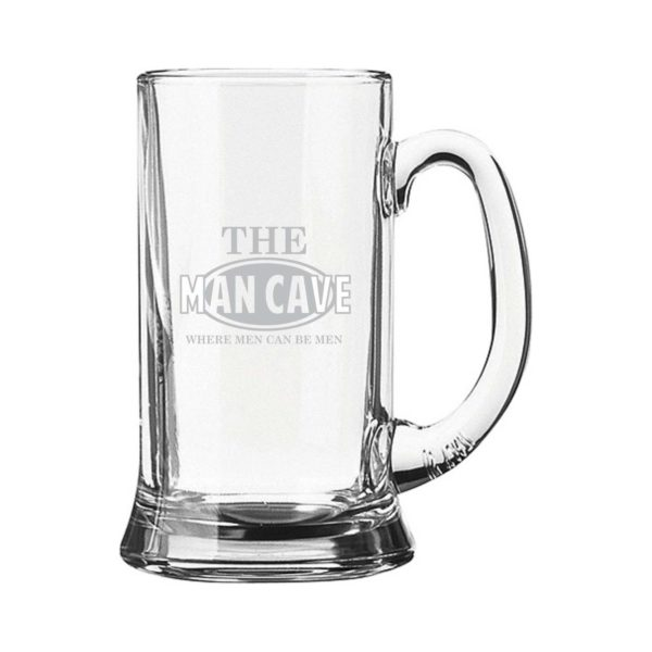 Personalized Engraved Man Cave Beer Mug