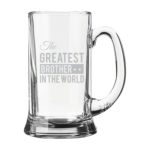 Engraved The Greatest Brother Sister In Law Beer Wine Glass with Rakhi
