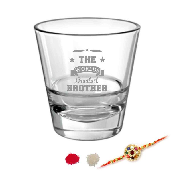 Engraved World Greatest Brother Whiskey Glass