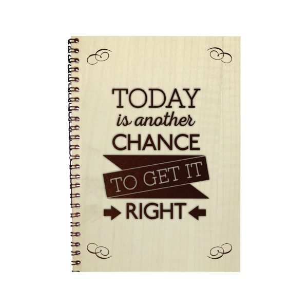 Engraved Everyday Brings a New Chance Motivational Diary