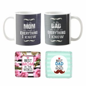 Everything Mom Dad I Know Mugs KH2084