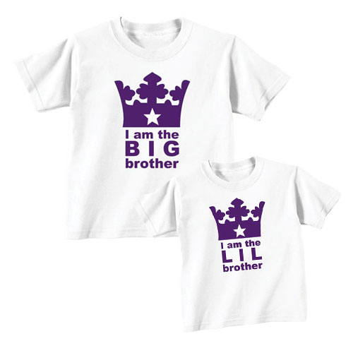 Royal Big and Lil Bro Sibling T shirts