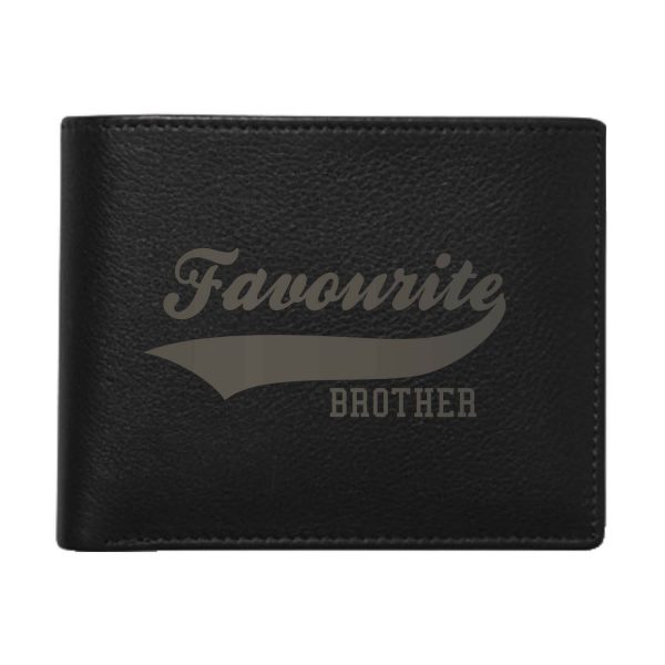 Favourite Brother Men's Leather Wallet for Brother_Black