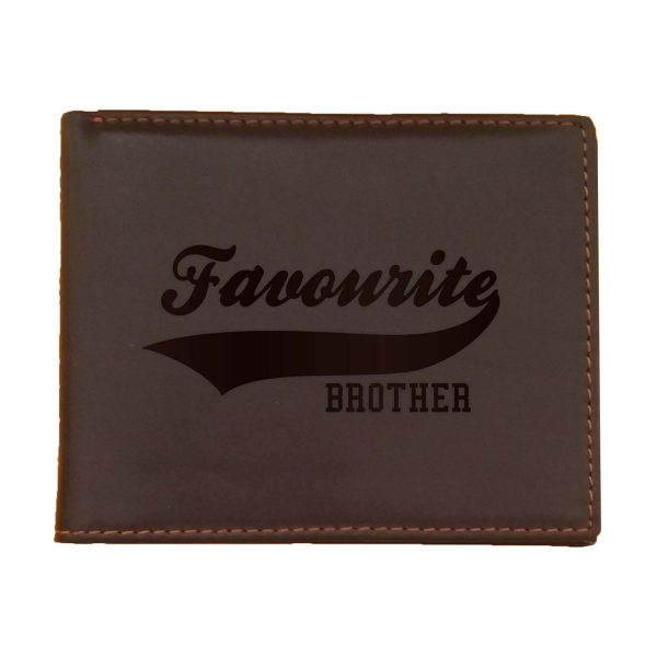 Favourite Brother Men's Leather Wallet for Brother_Brown