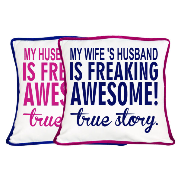Freaking Awesome True Story Couple Cushion Cover- Set of 2
