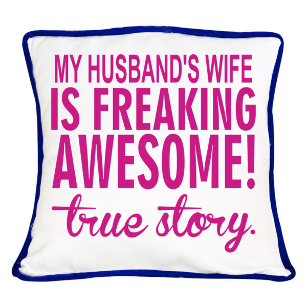 Freaking Awesome True Story Couple Cushion Cover- Set of 2_1