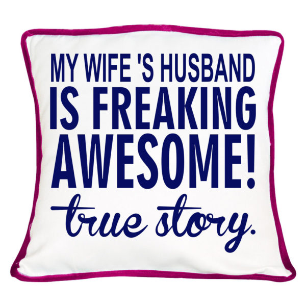 Freaking Awesome True Story Couple Cushion Cover- Set of 2_2