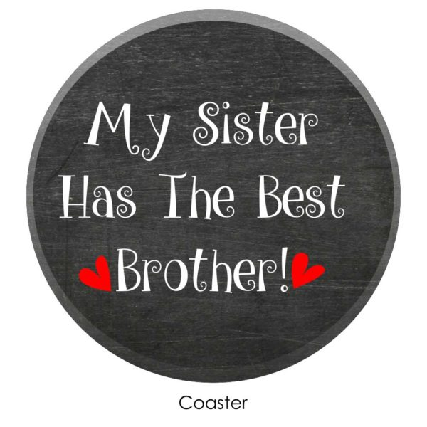 Funny Best Brother Conical Mug coaster