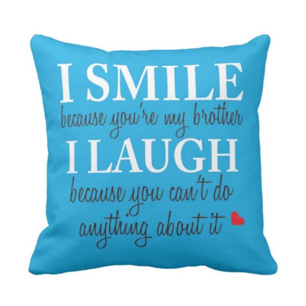 Funny Teasing Brother Cushion Cover